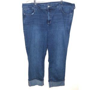 NYDJ rolled cuff ankle jean Size 24W